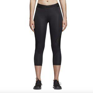 Adidas Black ALPHASKIN SPORT 3/4 TIGHTS